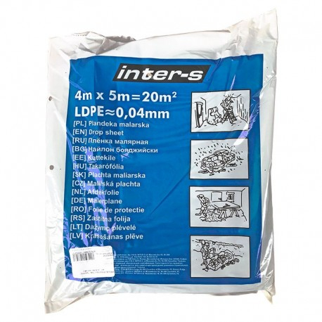 Folie protectie VENUS DSH, LDPE, 4X5m, 20ym 0