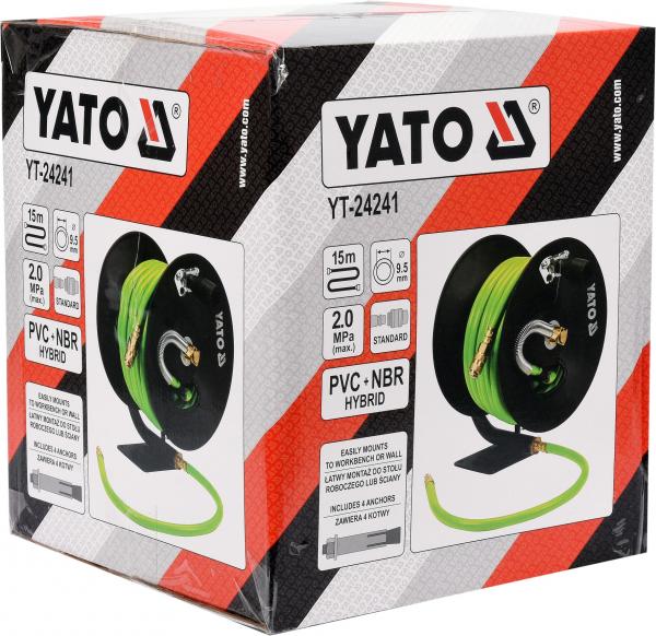 Furtun de aer comprimat YATO, HYBRID AIR, 9.5mm, 15m, 20bar 3