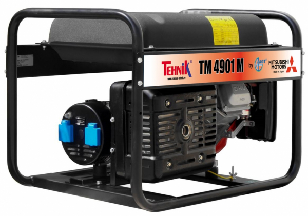 Generator pe benzina TEHNIK, monofazat, TM 4901M, 4.4kVA 0