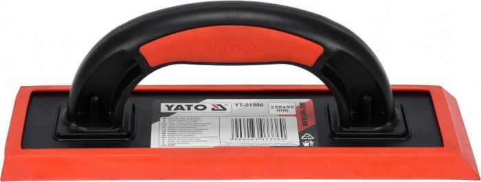 Gletiera cauciuc YATO, 250X95mm, maner plastic [1]