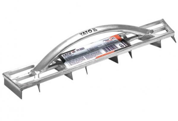 Gletiera cu dinti YATO, pentru nivelare, aluminiu, 450X90mm [0]