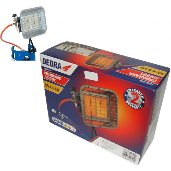 Incalzitor Radiant DEDRA, cu Gaz, 4.6kW 1