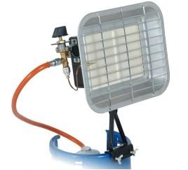 Incalzitor Radiant DEDRA, cu Gaz, 4.6kW 0