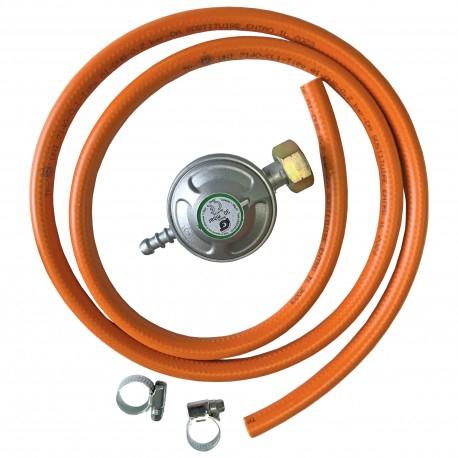 Kit VENUS DSH, pentru butelie gaz, Regulator presiune + Furtun 1.5m + 2 Coliere 0