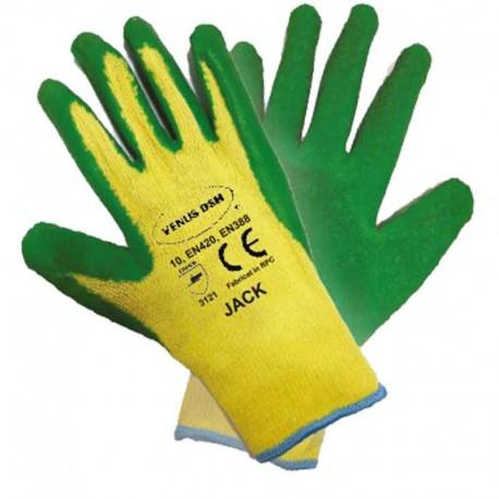 Manusi protectie VENUS DSH, bumbac/latex, JACK 0