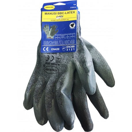 Manusi protectie VENUS DSH, bumbac/latex, Marime 10,  1