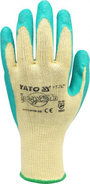 Manusi protectie YATO, bumbac/latex, marimea 10 1