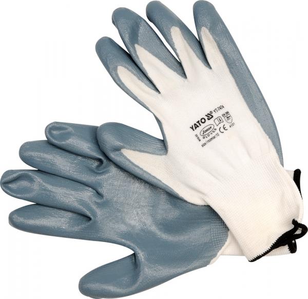 Manusi protectie YATO, nylon/cauciuc, marimea 10, gri [0]