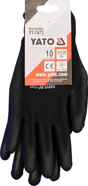 Manusi protectie YATO, nylon/cauciuc, marimea 10, negru 3