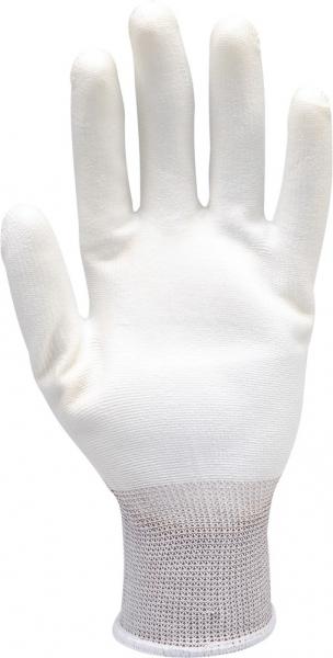 Manusi protectie YATO, nylon/PU, marimea 10, alb [2]