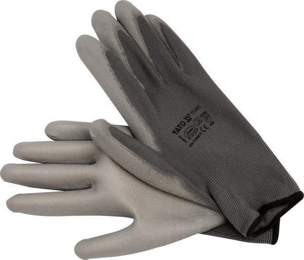 Manusi protectie YATO, nylon/PU, marimea 10, gri 0