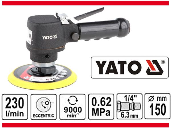 Masina de Slefuit Pneumatica YATO, 150mm, 9000 rpm, 230 l/min [1]