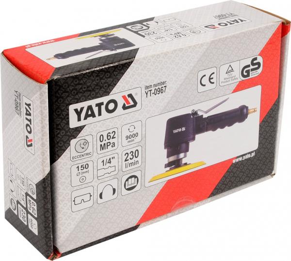 Masina de Slefuit Pneumatica YATO, 150mm, 9000 rpm, 230 l/min [2]