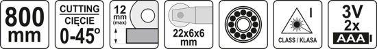 Masina de Taiat Gresie si Faianta YATO, cu Laser, Lungime de Taiere 800mm [5]