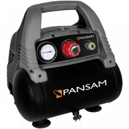 Mini compresor fara ulei PANSAM, 6L, 1100W, 8bar 0
