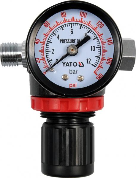 Mini filtru YATO, regulator de presiune, cu manometru 0