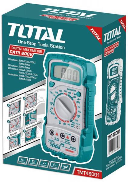 Multimetru Digital TOTAL, LCD, Universal 1