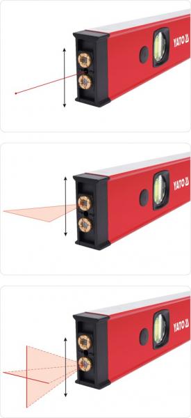 Nivela cu Laser YATO, Electronica, 610mm 4