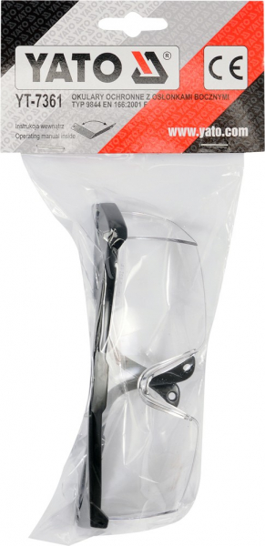 Ochelari de protectie YATO, brate reglabile, protectie UV, clasa 1 1