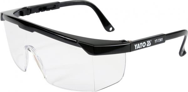Ochelari de protectie YATO, brate reglabile, protectie UV, clasa 1 0