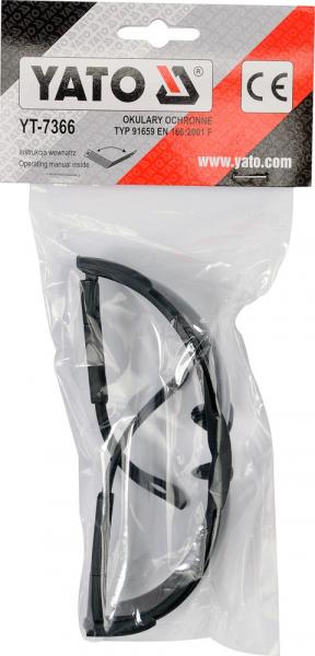 Ochelari de protectie YATO, lentila neagra, protectie UV, plastic 1