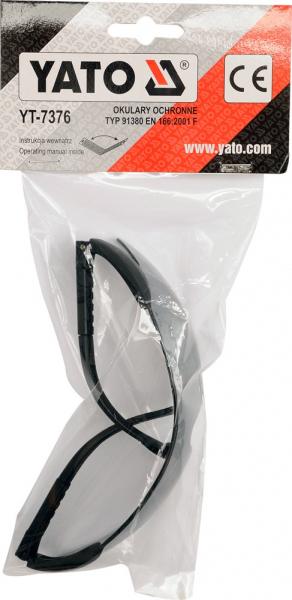 Ochelari de protectie YATO, lentila oglinda, policarbonat, gri [1]