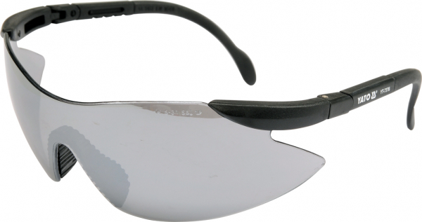 Ochelari de protectie YATO, lentila oglinda, policarbonat, gri [0]