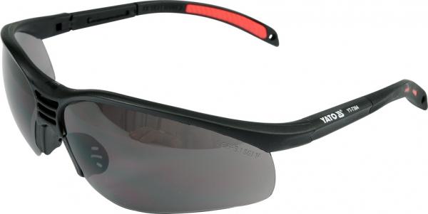 Ochelari protectie YATO, lentila neagra, protectie UV, plastic 0