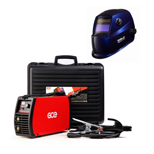 Pachet GCE/IWELD, Aparat de sudura tip invertor, ArControl digital, 200A + Masca sudura automata, NORED EYE II, DIN 9-13 0