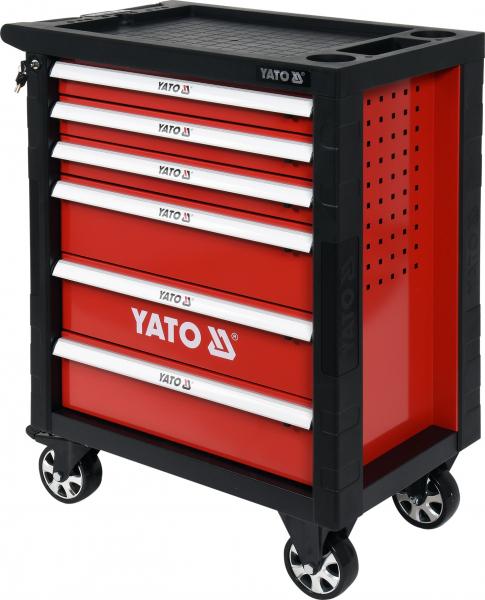 Pachet YATO, Dulap scule profesional, 6 sertare, echipat 177 piese + Polizor unghiular Yato, 850W, 125mm [3]