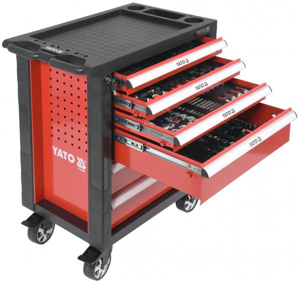 Pachet YATO, Dulap scule profesional, 6 sertare, echipat 177 piese + Polizor unghiular Yato, 850W, 125mm [1]