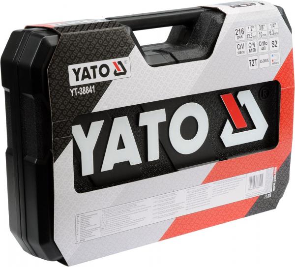 Pachet YATO, Trusa scule profesionala, 216buc + Set imbus canelate, 40buc 5