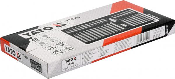 Pachet YATO, Trusa scule profesionala, 216buc + Set imbus canelate, 40buc 8