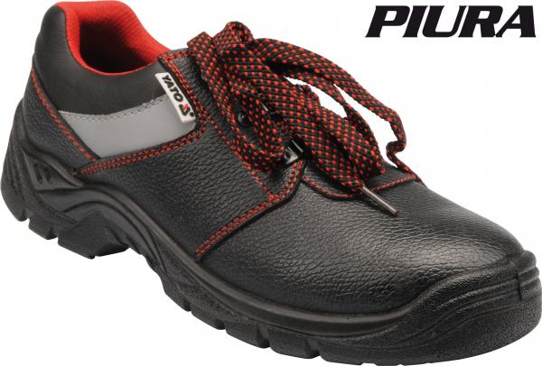 Pantofi de protectie YATO piele, PIURA S3, 200J gri [1]