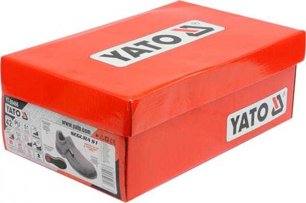Pantofi de protectie YATO tip sanda de vara, piele S1, 200J gri 3
