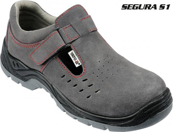 Pantofi de protectie YATO tip sanda de vara, piele S1, 200J gri 0