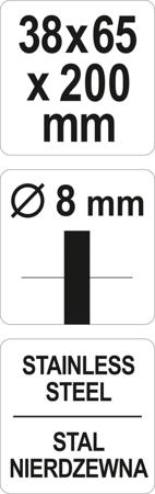 Perie Sarma Cilindrica YATO, Pentru Bormasina, Inox, 38 X 65 X 200mm 3