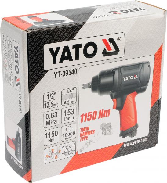 Pistol Pneumatic YATO, 1/2 inch, 1150Nm 4