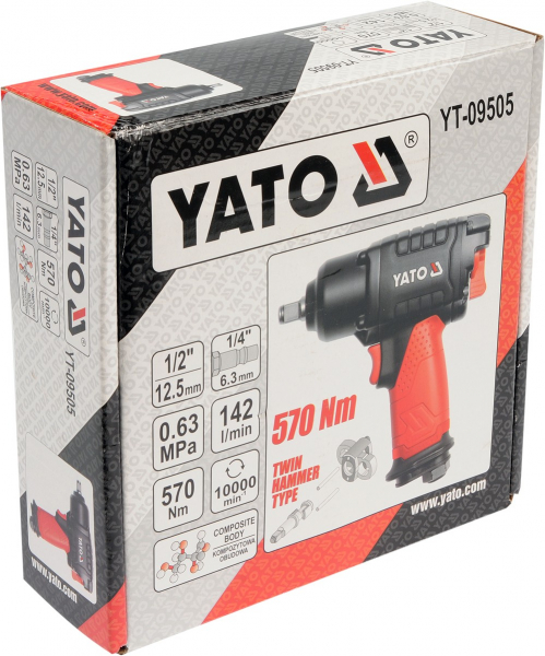 Pistol Pneumatic YATO, 1/2 inch, 570Nm [4]