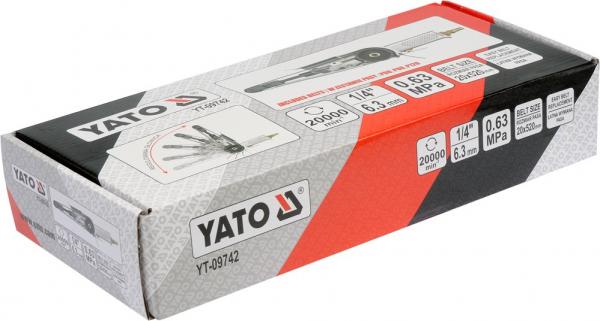 Polizor Pneumatic YATO, cu Banda, 20 X 520mm 3