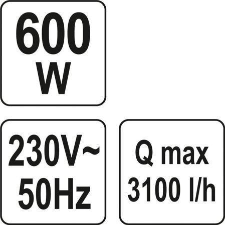 Pompa de Suprafata YATO, de Presiune Constanta, 600W, 3100 l/h [5]