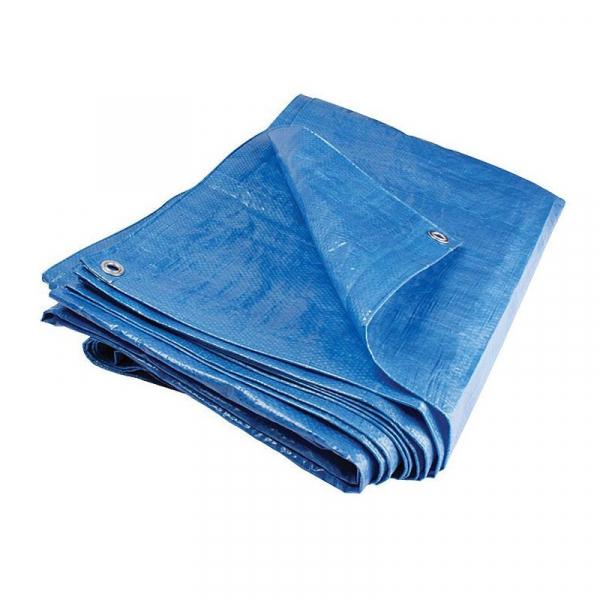 Prelata cu inele VENUS DSH, 80 G/MP, impermeabila, albastru, 5X6m 0