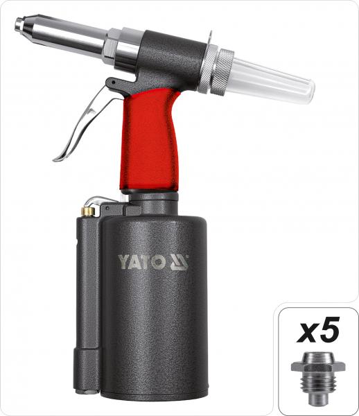 Presa Pneumatica YATO, Pentru Nituit, 2.4 - 6.4mm, 1389kg 1