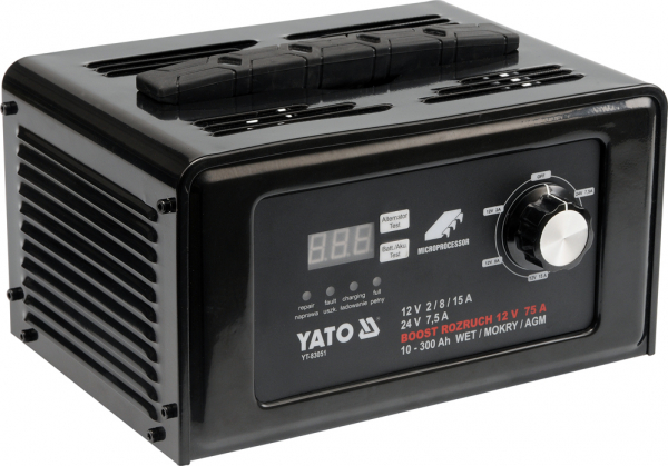 Redresor Auto YATO, 12/24V, 15A, 300Ah 0