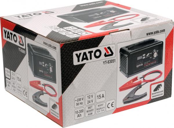 Redresor Auto YATO, 12/24V, 15A, 300Ah 1
