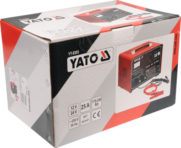 Redresor Auto YATO, 12/24V, 25A, 350Ah 1