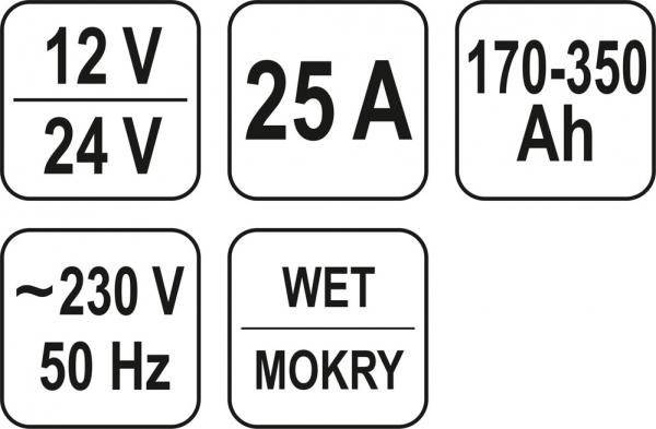 Redresor Auto YATO 12/24V 2