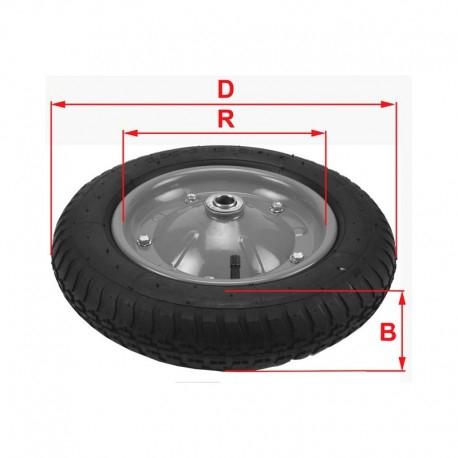 Roata roaba VENUS DSH, SSPU, 14 X 3.5 - 8, ax D14mm, poliuretan plin 1