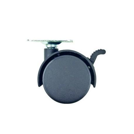 Roti Mobila Plate VENUS DSH, cu Frana, Plastic, Set 4 Buc, 40mm 0