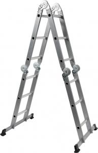Scara multifunctionala VOREL, otel/aluminiu, 3.4m, 4X3 trepte 1